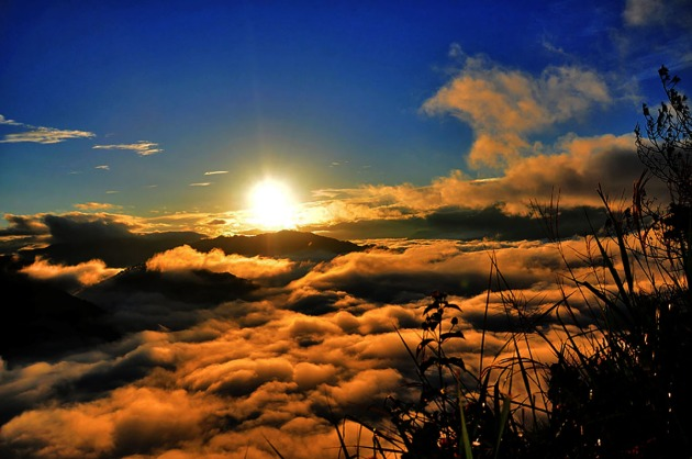 The stunning sunrise at Kiltepan viewpoint in Sagada, Mt. Province.